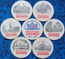 Alte Bierdeckel Serie Lüneburg Kronen Brauerei Moravia Pils - Stadtmotive - 1965