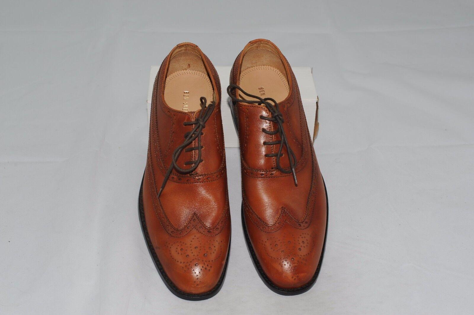 NWT Ben Sherman Men's Leather Wingtip Oxford Dress shoes 7.5