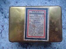 100% ORIG. WW2 GERMAN brass fuse case box STIELHANDGRANATEN 24 EXCELLENT