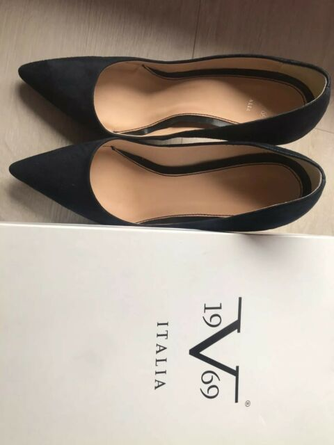 Versace V1969 LOISE schwarz Echtleder Pumps Damenschuhe Highheels Gr 39 40 NEU
