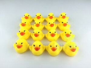 100X Bath Duck Squeeze Sound Floating Rubber Ducks Toy Rubber Duck Classic Toys