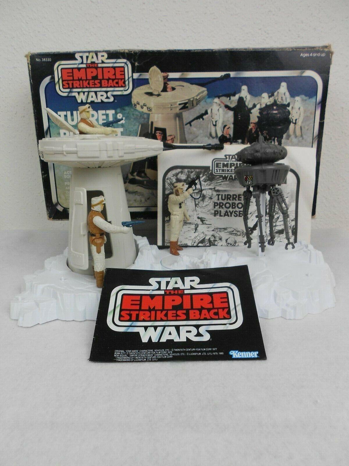Vintage Star Wars ESB 1980 Turret & Probot w Box  Complete  w 3-Figures Nice