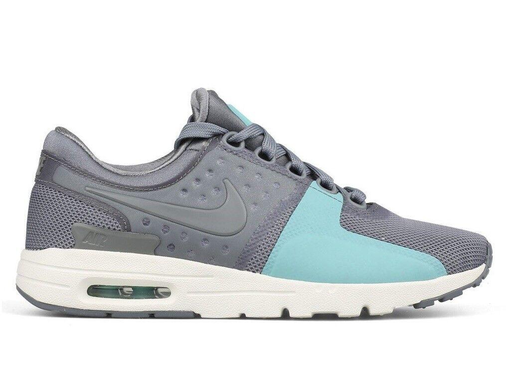 Nike Air Max Zero Womens 857661-001 Cool Grey Sail Teal Running Shoes Size 10.5