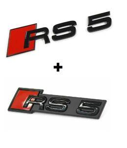 Original Audi Rs5 F5 Black Edition Rear Badge Audi Rs5 Grille Logo Emblem Set Ebay