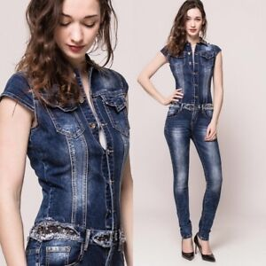 eecb8fef7ad9 Image is loading Sexy-Womens-stretch-Denim-Jumpsuit-Overalls-skinny-slim-