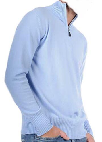 Balldiri 100/% Cashmere Uomo Pullover Troyer 2 fädig azzurro cielo XL