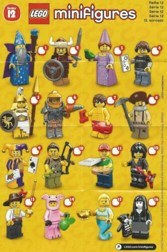 complete unopened set x 16 new factory sealed Lego minifigures series 12 71007