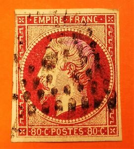 France :Empire non dent n° 17B a (TB-1282-3) Oblit. Los COTE 255 € Oblit Etoile