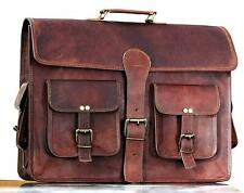 Kattee Men/'s Crazy Horse Leather Briefcase Messenger Laptop Handbag