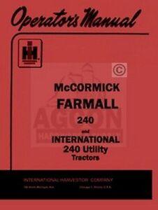 FARMALL-240-INTERNATIONAL-240-Utility-Operator-Manual