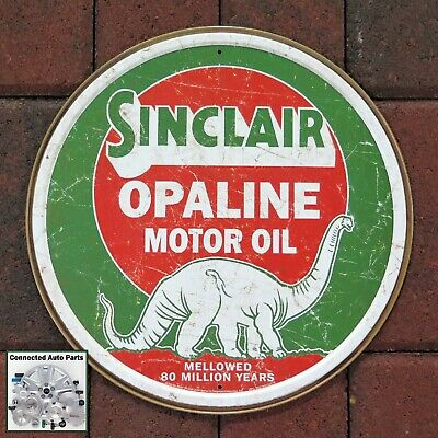 "SINCLAIR OPALINE MOTOR OIL Tin Sign Gas Station Garage Man Cave 11.75/"" S-2169"