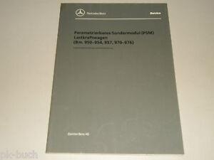 Details about Workshop Manual Mercedes Benz Parametrierbares Sondermodul  Psm Truck, 03/1998