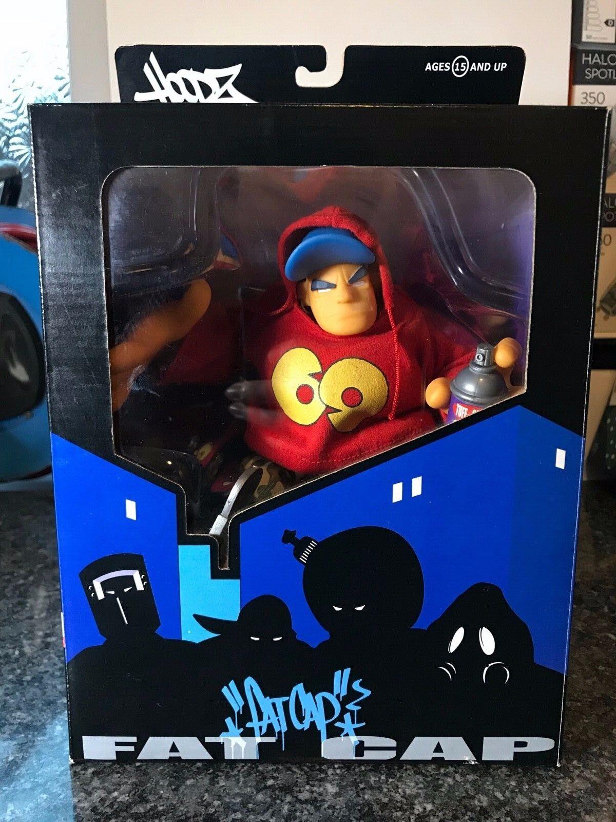 Mezco Hoodz Series 1 Fat Cap, Letterman & Vapor boxed with accessories.