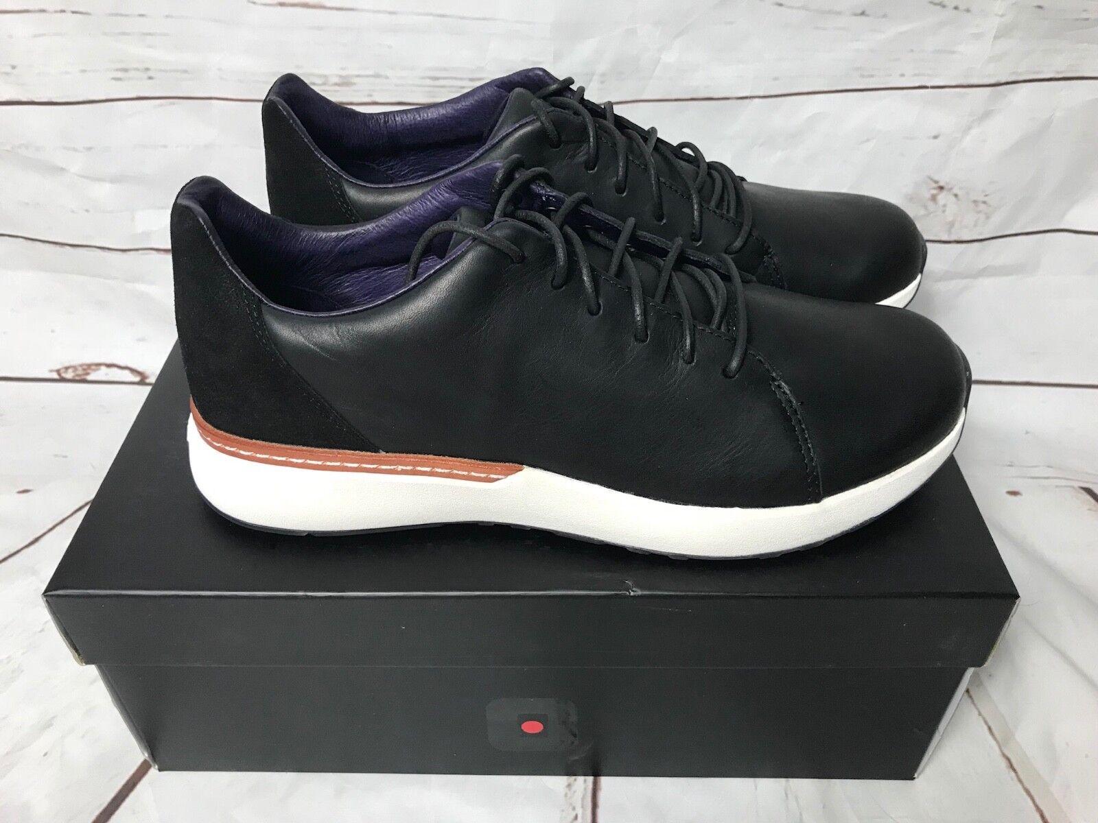 Tsubo Yobo Contrast Men's Leather Suede Sneaker Black Size 10 Style 2263-001