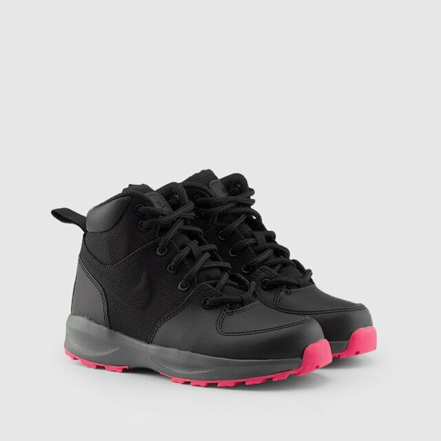 22eb776c4c Nike Manoa Little Kids Aj1284-001 Black HYPER Pink BOOTS Girls Youth ...