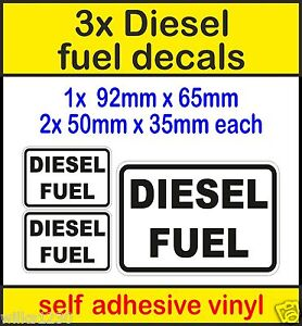Details about 3x Diesel Fuel Stickers Warning reminder Signs self adhesive  viny car taxi cab
