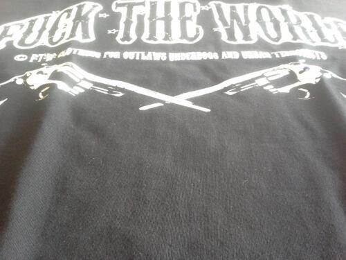 FTW BordeI the world t-shirt noir pistolets