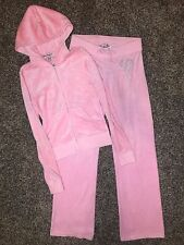 Juicy Couture Velour Bling Zip Hoodie & Original Pants Royal LA (PETAL PINK) (P)
