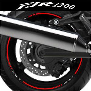 Liserets Jantes Moto Fjr 1300 Stickers Kit Pour 2 Jantes 40 Colors Les Clients D'Abord