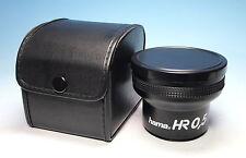 Hama Video-Objektiv HR 0.5x Objektiv Lens Objectif 52E für Videokameras - 202787