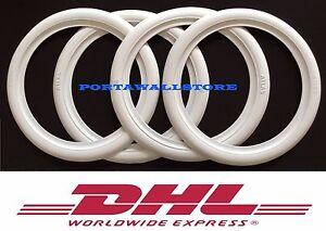 "ATLAS 13"" White Wall Portawall Tire insert trim set of 4 Flapper Sidewall-"