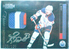 RC /100 RYAN NUGENT HOPKINS CONTENDERS JERSEY PATCH AUTO autographs 2011 11 12