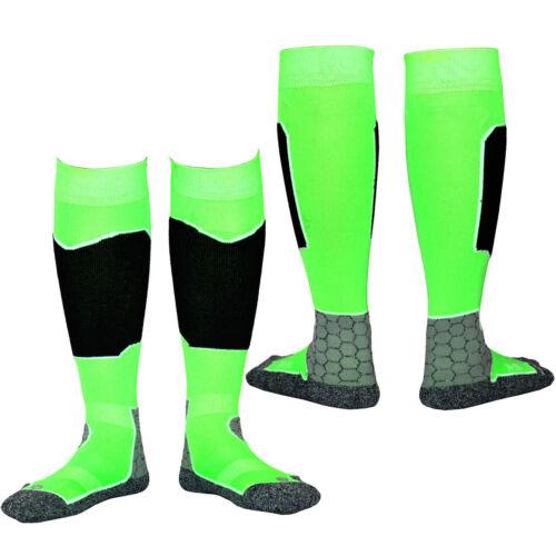 Green Ladies Womens Winter Thermal Long Ski Snowboarding Hiking Boot Socks 34-45