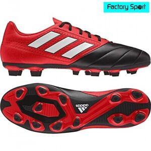 pared Botánica Radioactivo  Adidas ACE 17.4 FxG rojo negro botas de fútbol para hombre | eBay