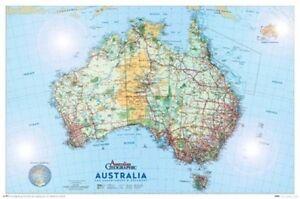 AUSTRALIA-MAP-POSTER-61x91cm-NEW-glossy-surface-Australian-Geographic-Adventurer