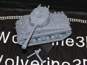 Flames Of War USA 1/100 M4A3E8 Sherman 76mm w MuzzleBrk HVSS 15mm FREE SHIPPING