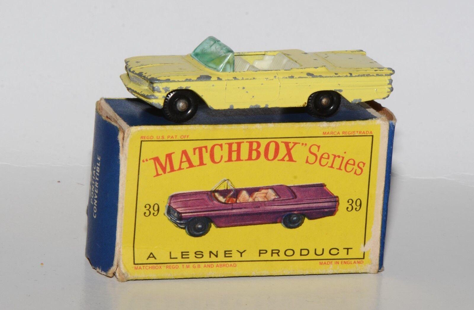Matchbox serie 1-75 nº 39-pontiac converdeible en embalaje original
