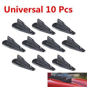 10x-EVO-Style-PP-Roof-Shark-Fins-Spoiler-Wing-Vortex-Generator-carbon-fiber-look