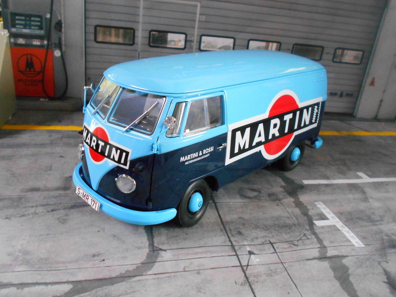 Volkswagen vw bus t1b 1 B Fourgon Martini Bleu bleu 1959 - 1963 schuco 1 18