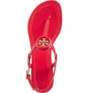 39f888c90e7e New  225 Tory Burch Dillan Samba Gold Patent Leather Flat Sandal 10 ...