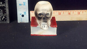 81643da7b8af Image is loading Match-Striker-Holder-Bisque-Skull-Vintage