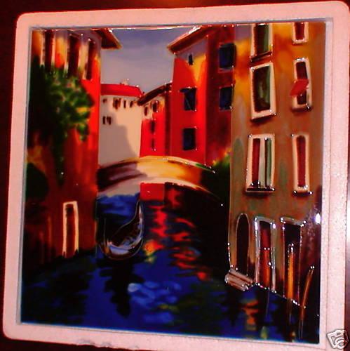 NIB Decorative Tile 12  Scene Venice  Trivet NEW