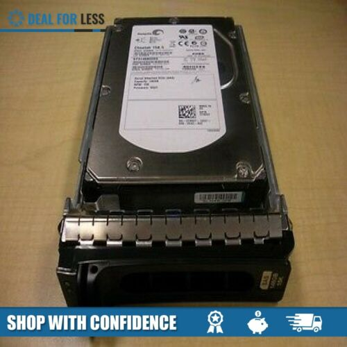 "DELL TK237//RY491//ST3146855SS//9Z2066-052 146GB 15K 3.5/"" SAS HARD DRIVE WITH TRAY"