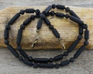 Adroit Mince Noir Collier-unisexe Ou Homme Collier-homme Un Collier De Perles-afficher Le Titre D'origine Bas Prix