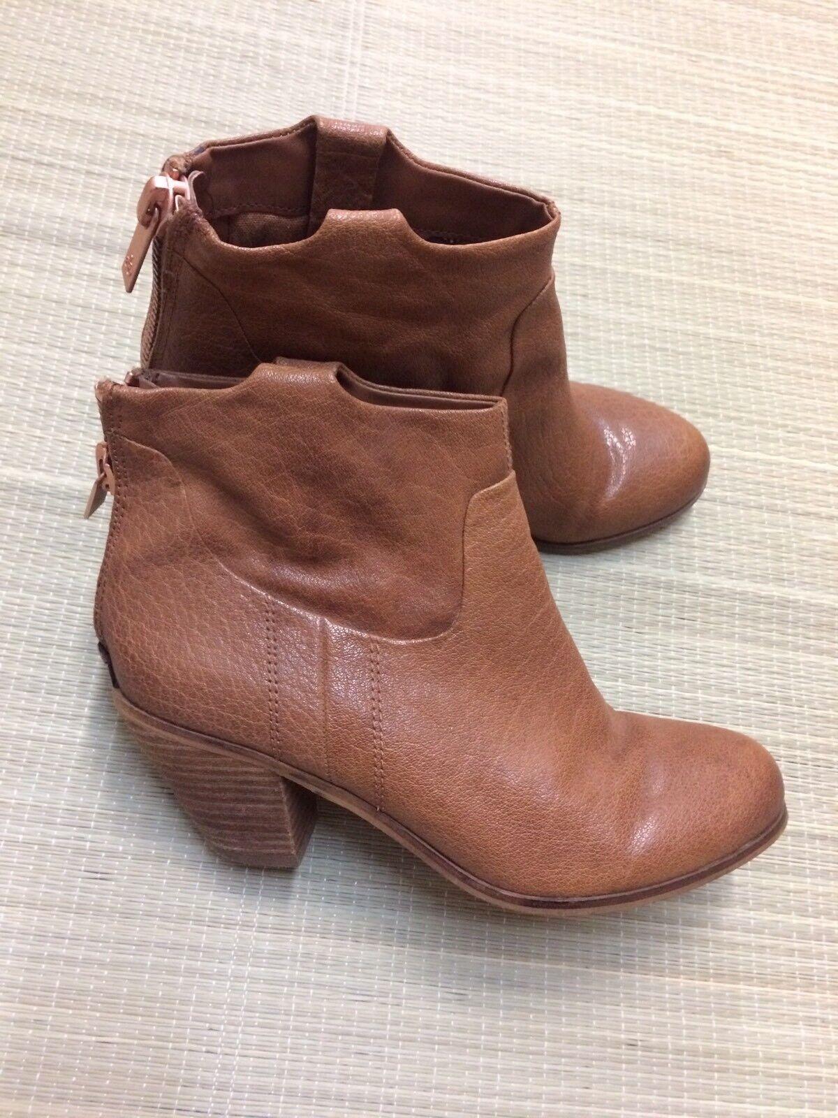 Sam Edelman Lisle Leather Ankle Boots Size 7.5 EUC