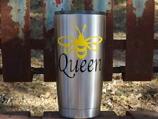Custom Monogram Bee Vinyl Decal for Yeti Rambler, RTIC, Ozark Trails,Tumbler