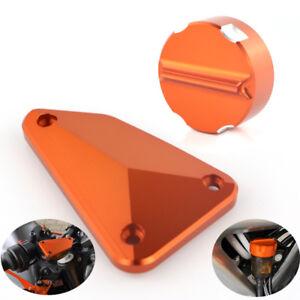 Front-And-Rear-Brake-Cover-Cap-Fluid-Reservoir-For-KTM-Duke-790-2018-2019-Orange