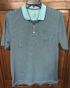 d1f670ca Bobby Jones Performance Men L Golf Polo Shirt Blue Striped | eBay