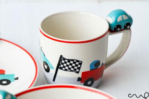 NEW Turquoise Car Ceramic Mug Children Gift Birthday Vehicle Lover 3D