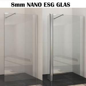 Details zu Duschabtrennung Walk In Dusche Duschkabine 70-120cm NANO ESG  Glas Duschwand
