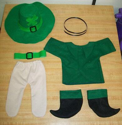 """IRISH LEPRECHAUN JACKET TIGHTS BOOTS HAT BELT TIE for 16/"""" CPK Cabbage Patch Kids"""