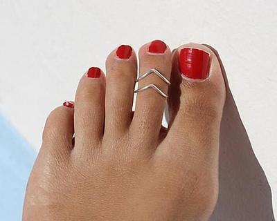 Celebrity Women Fashion Simple Toe Ring Adjustable Foot Beach Jewelry   WOAU