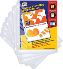 100 Clear Sheet Protectors 85 X 11 Clear Page Protectors For 3 Ring Binder