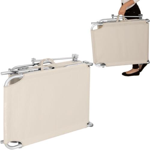 Alu de jardin transat chaise longue Divan Chaise longue pliable avec toit 190 cm Beige