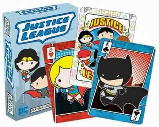 DC Comics Universe CHIBI - JUSTICE LEAGUE of AMERICA Playing Cards Licensed JLA