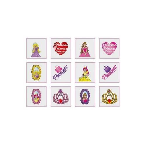 24 Girls Princess Temporary Tattoos Children/'s Birthday Loot Party Bag Filler